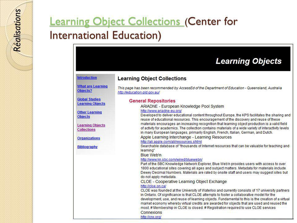 Learning Object Collections (Center for International Education)