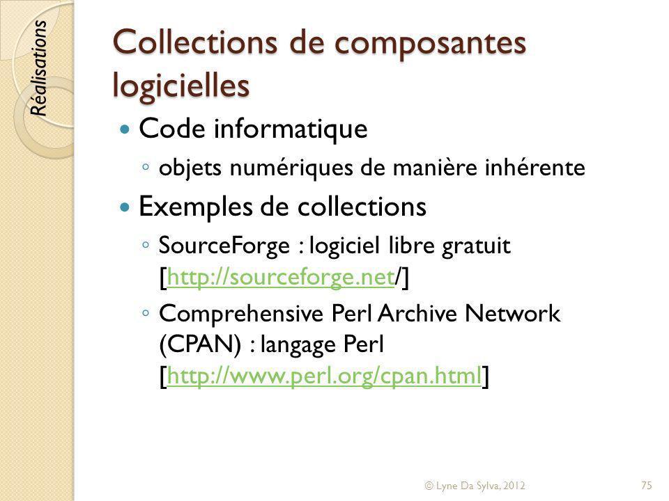 Collections de composantes logicielles