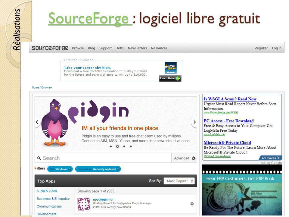 SourceForge : logiciel libre gratuit