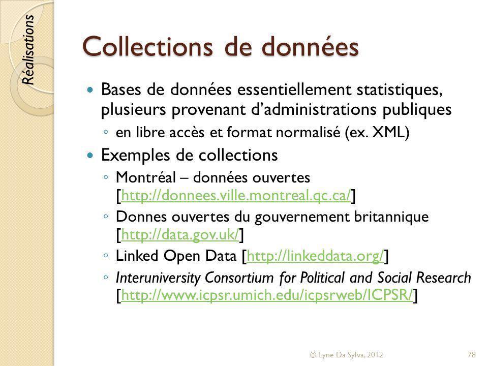 Collections de données