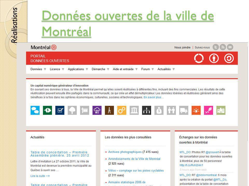 Données ouvertes de la ville de Montréal