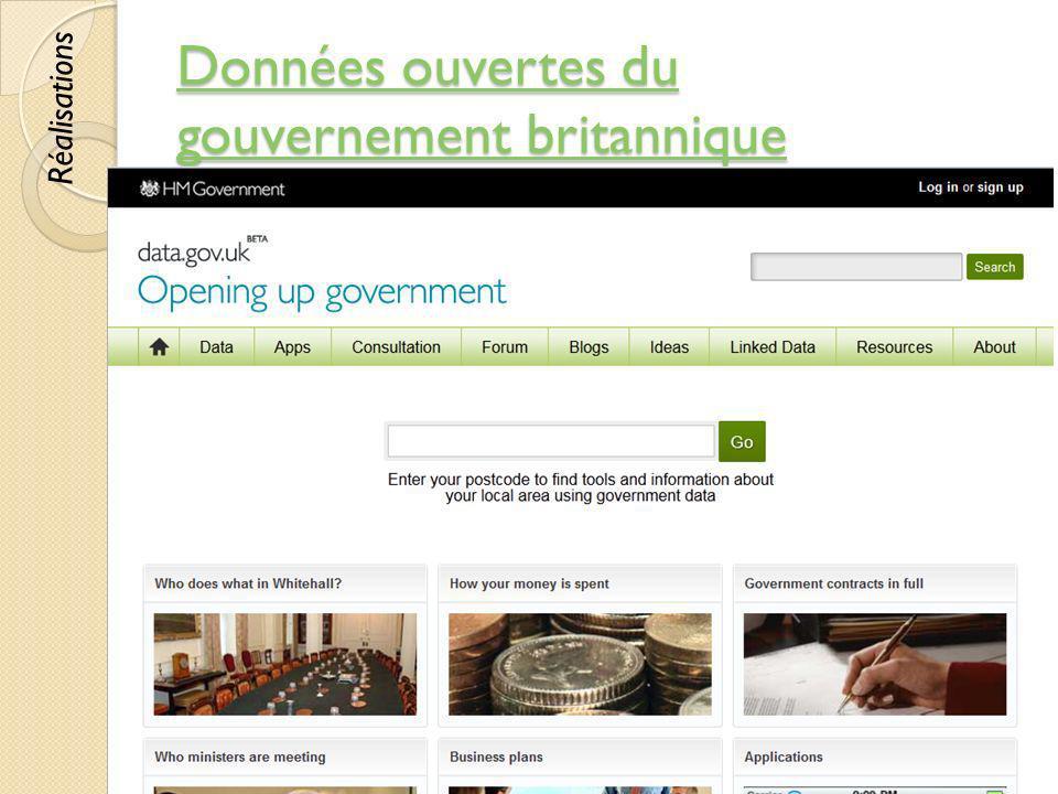 Données ouvertes du gouvernement britannique