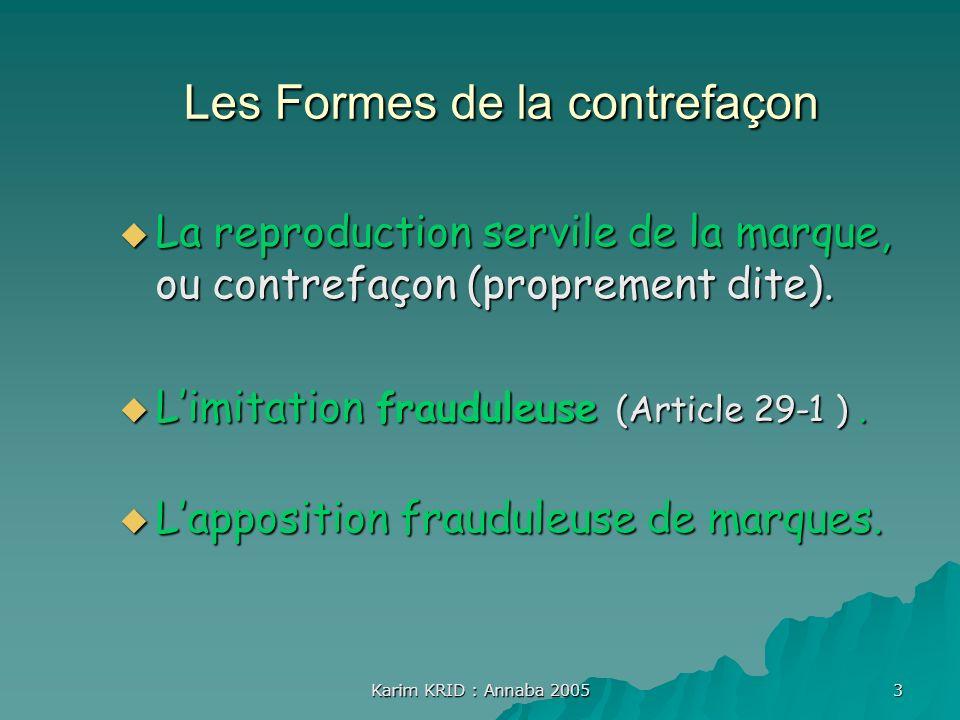 Les Formes de la contrefaçon
