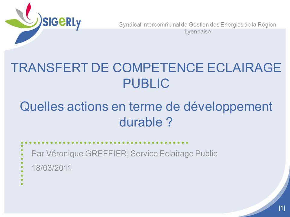TRANSFERT DE COMPETENCE ECLAIRAGE PUBLIC