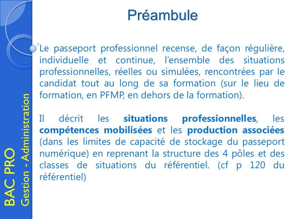 Préambule BAC PRO Gestion - Administration