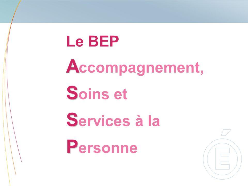 Le BEP Accompagnement, Soins et Services à la Personne