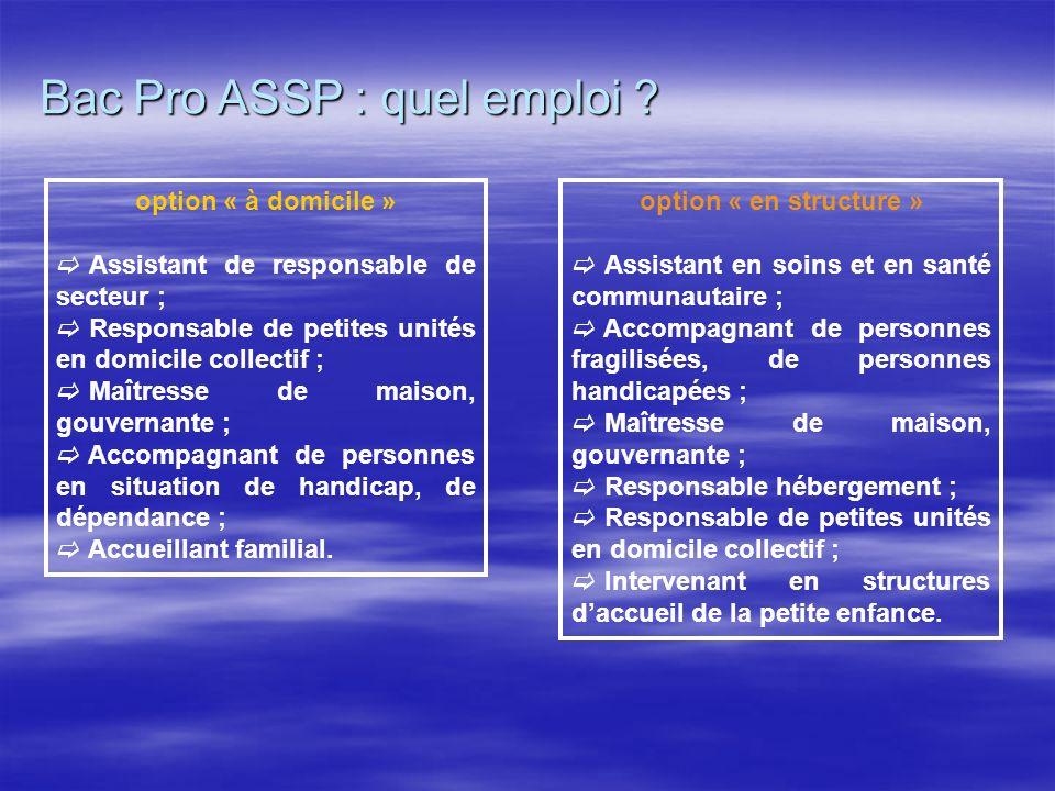 Bac Pro ASSP : quel emploi