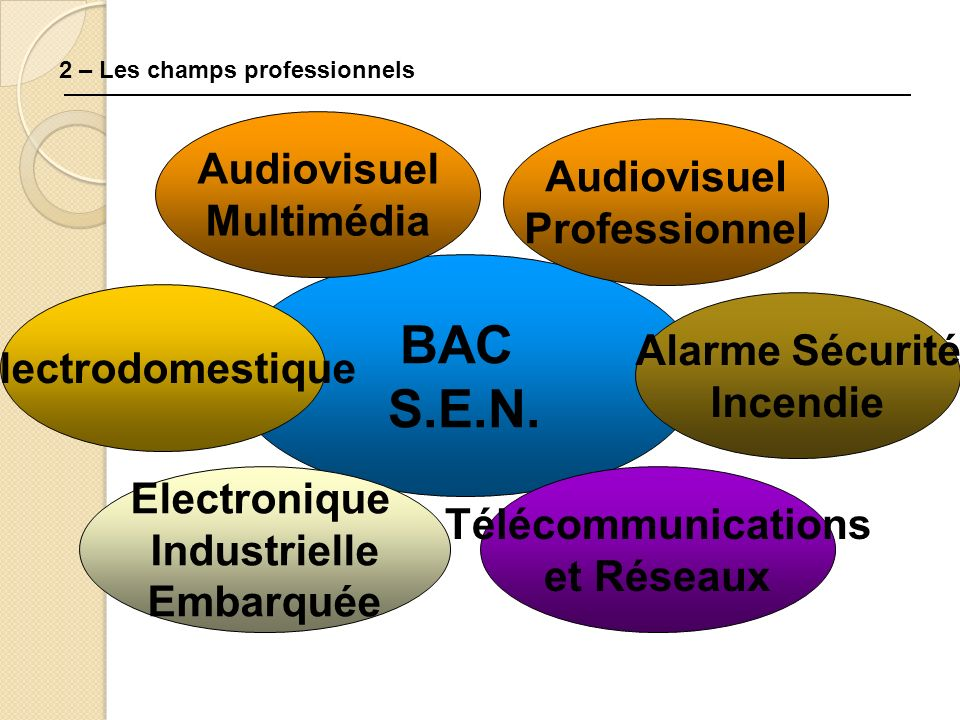 BAC S.E.N. Audiovisuel Audiovisuel Multimédia Professionnel