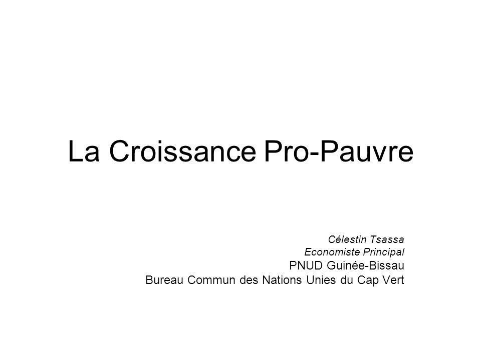 La Croissance Pro-Pauvre