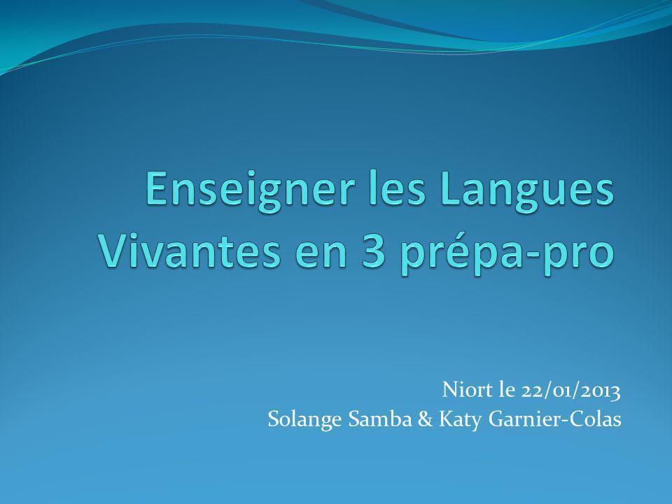 Enseigner les Langues Vivantes en 3 prépa-pro