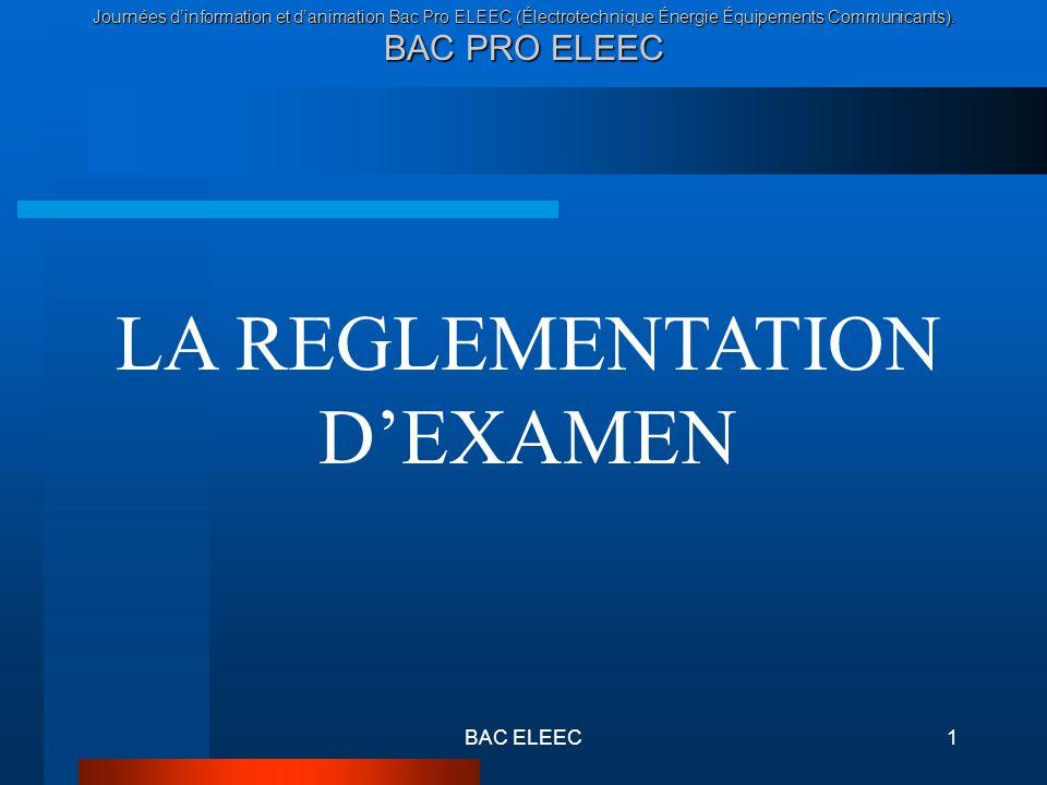 LA REGLEMENTATION D'EXAMEN
