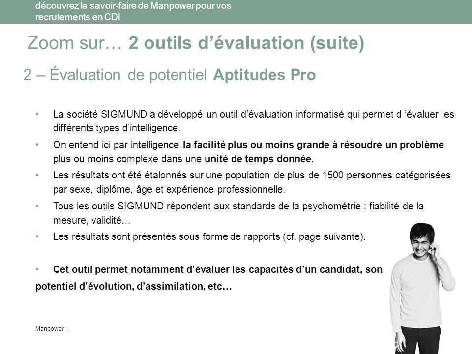 Zoom sur… 2 outils d'évaluation (suite)
