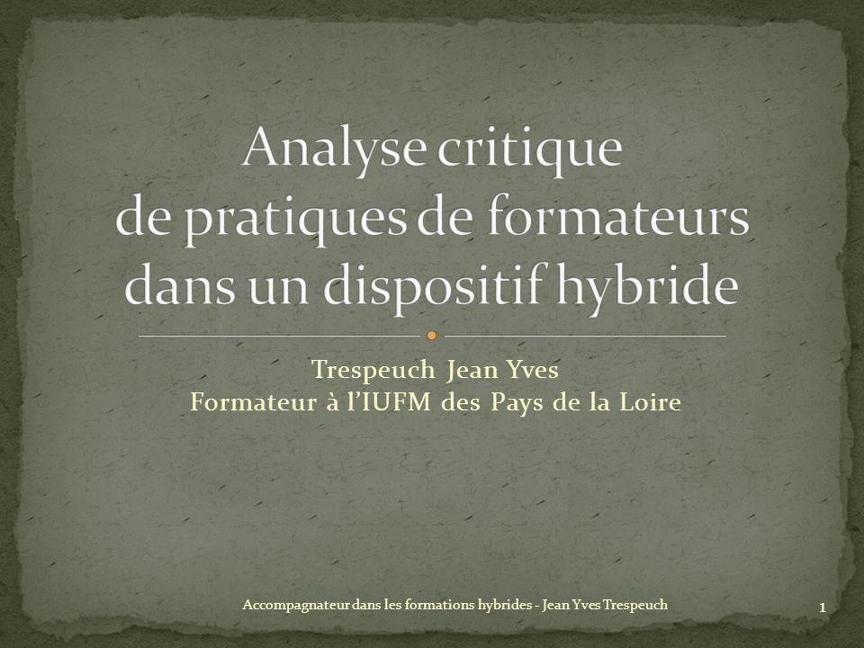 Analyse critique de pratiques de formateurs dans un dispositif hybride