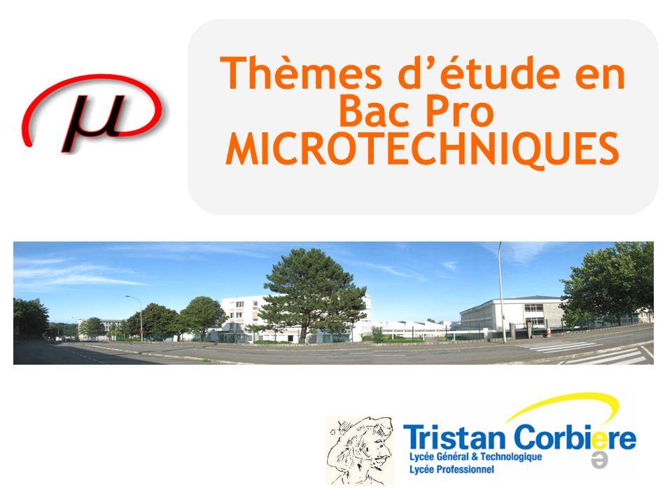 Thèmes d'étude en Bac Pro MICROTECHNIQUES
