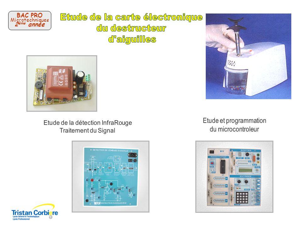 Etude de la carte électronique du destructeur d aiguilles