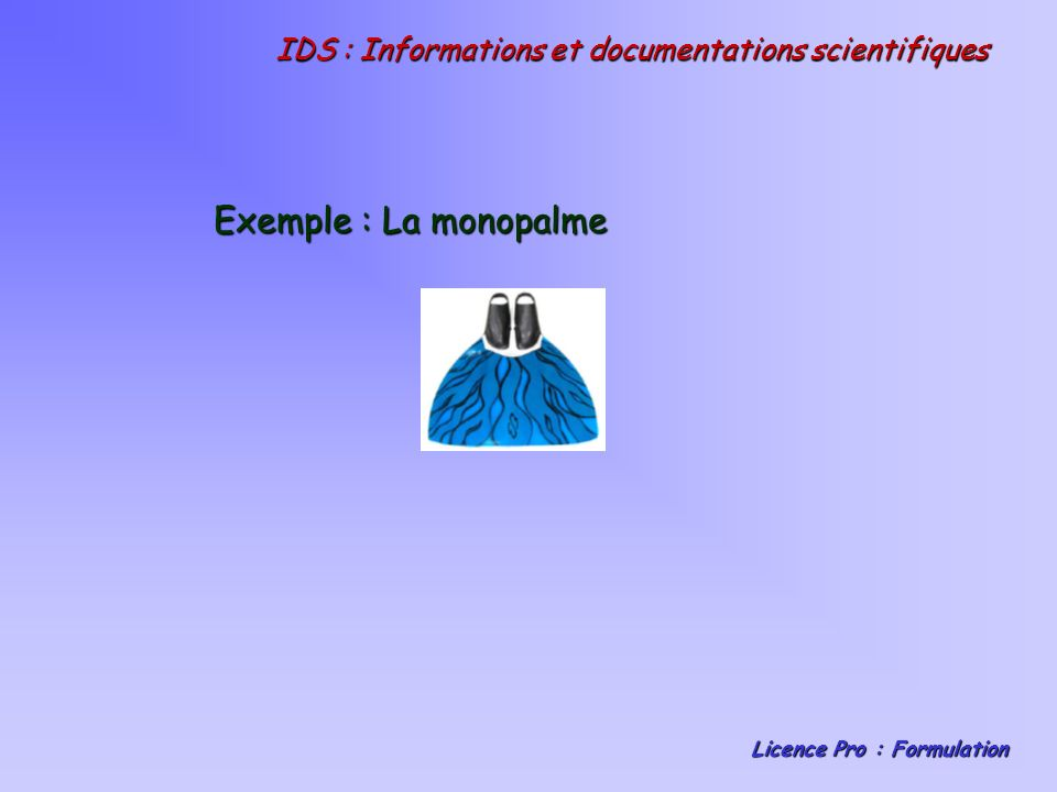 IDS : Informations et documentations scientifiques
