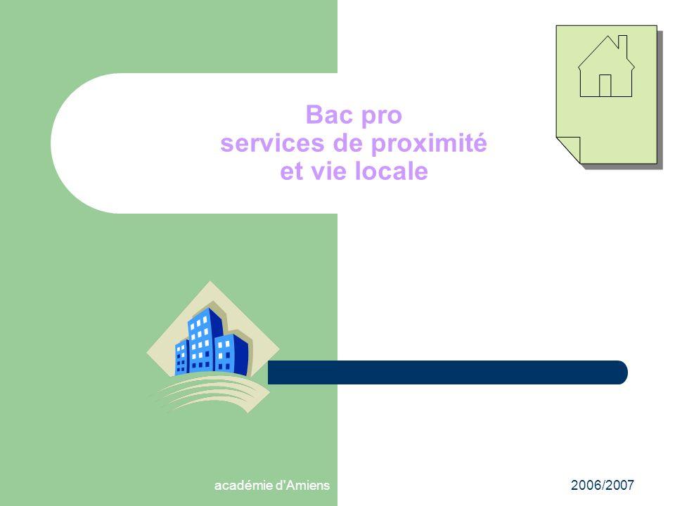 Bac pro services de proximité et vie locale