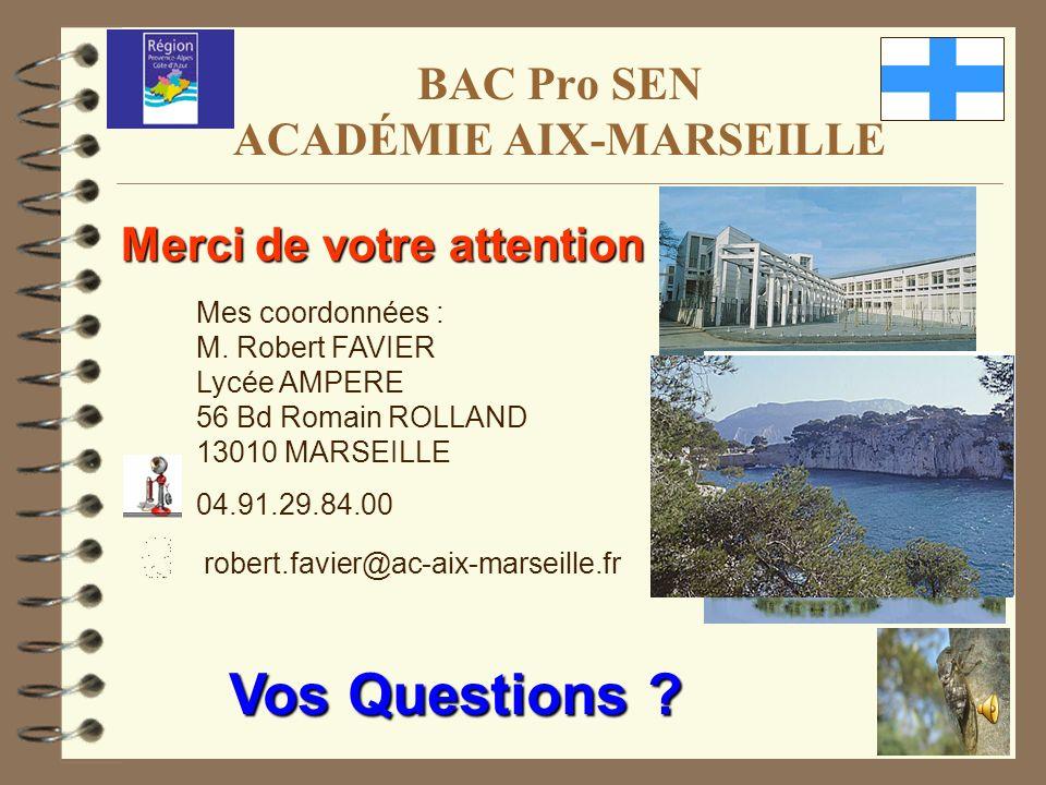 BAC Pro SEN ACADÉMIE AIX-MARSEILLE