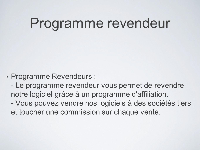 Programme revendeur