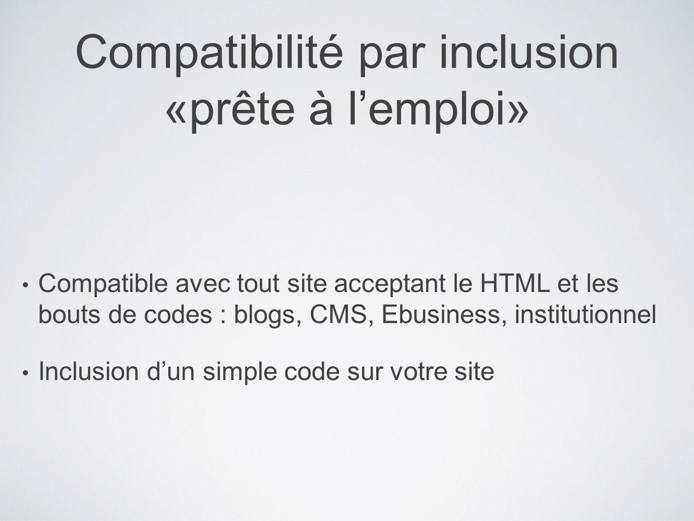 Compatibilité par inclusion «prête à l'emploi»