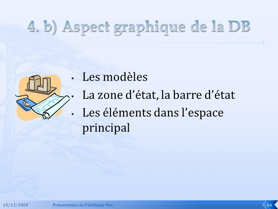 4. b) Aspect graphique de la DB