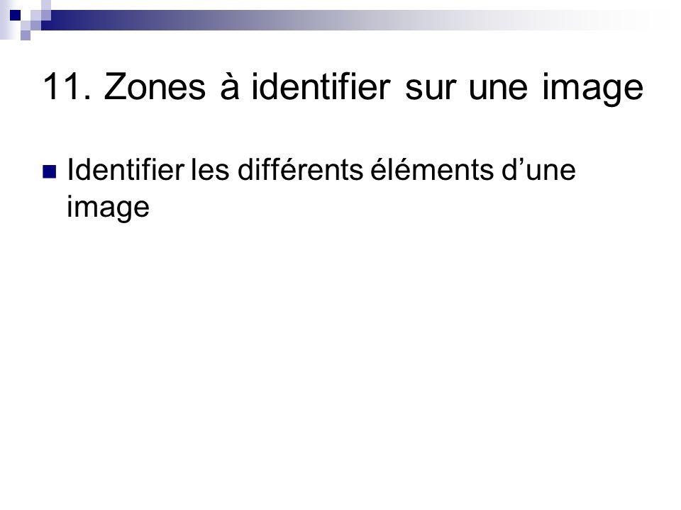 11. Zones à identifier sur une image