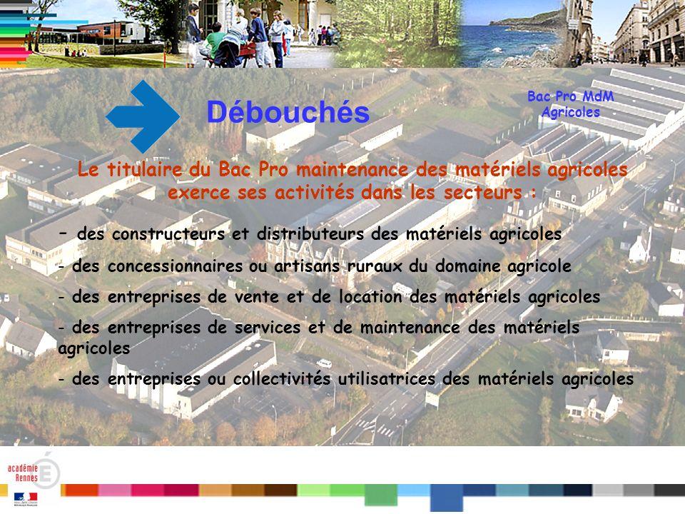 Débouchés des constructeurs et distributeurs des matériels agricoles