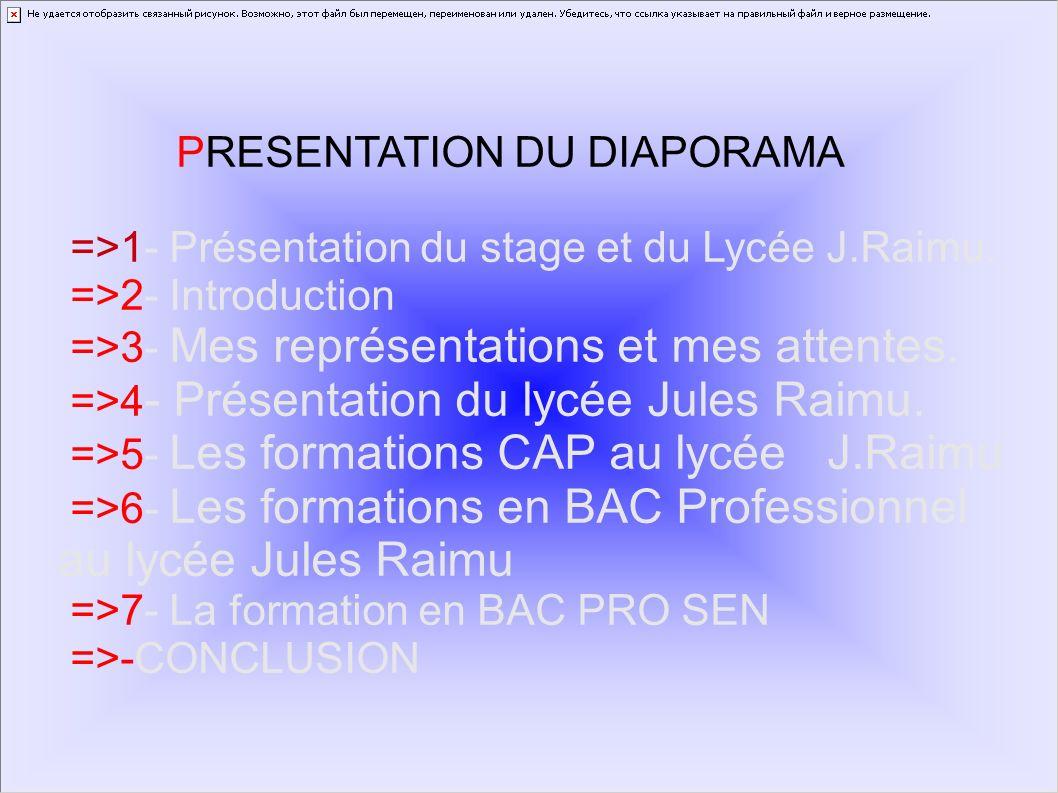 PRESENTATION DU DIAPORAMA
