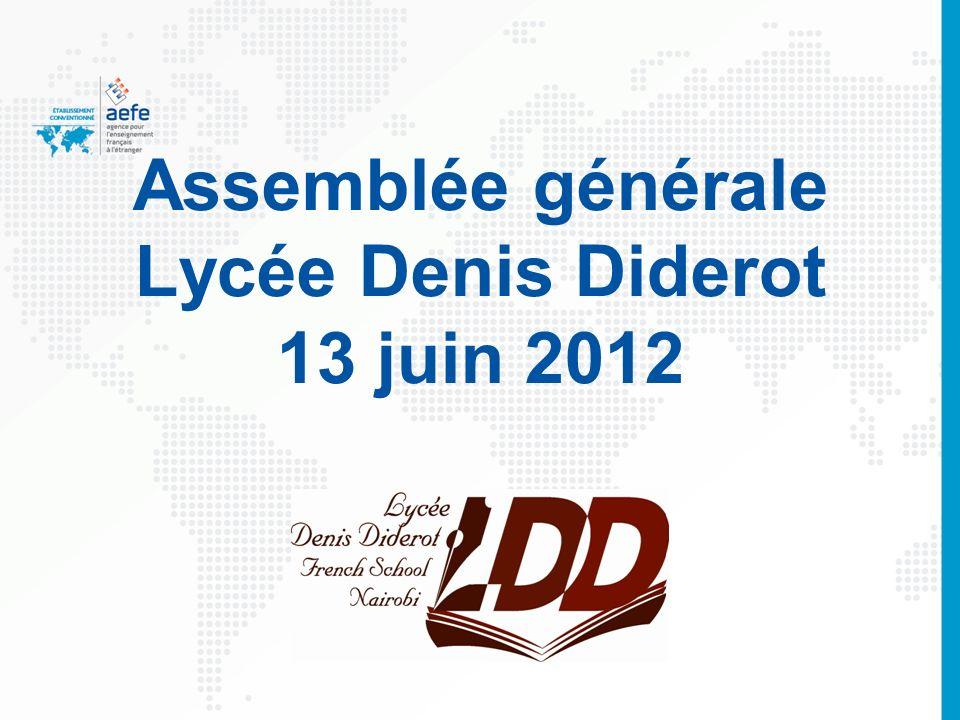 Assemblée générale Lycée Denis Diderot 13 juin 2012