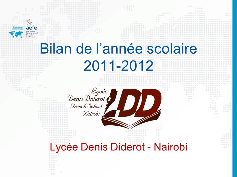 Bilan de l'année scolaire 2011-2012