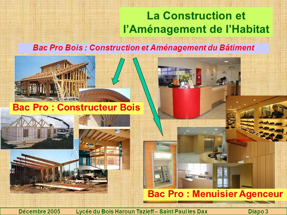 LA FILIERE BOIS APRES LE CAP ppt video online télécharger # Bac Pro Technicien Constructeur Bois