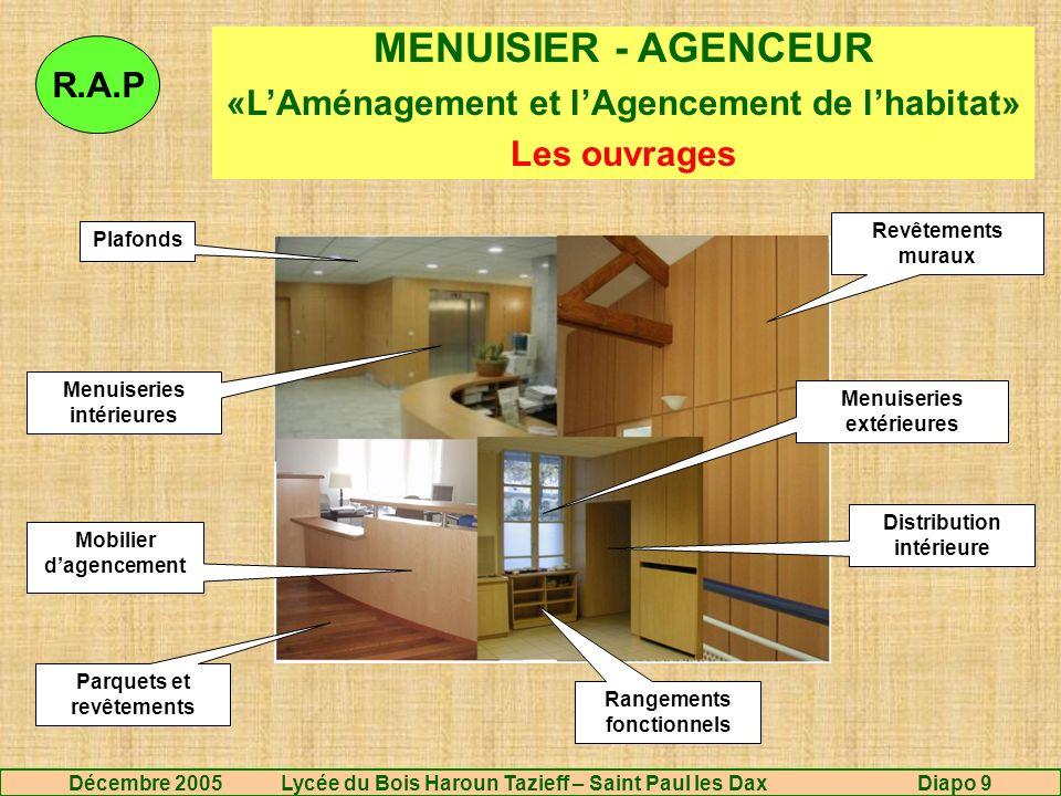 MENUISIER - AGENCEUR R.A.P