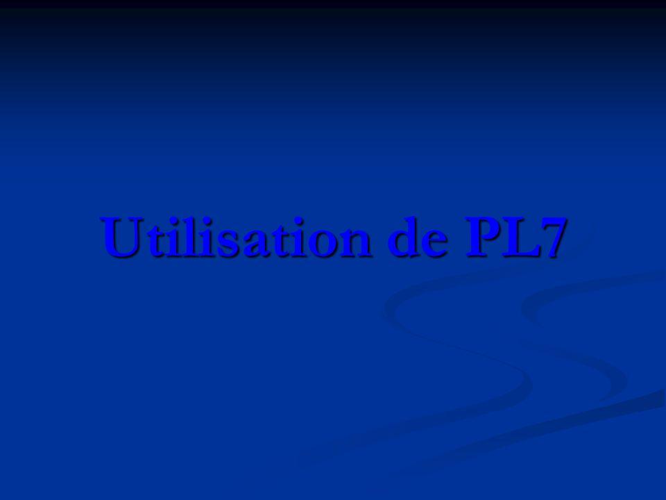 Utilisation de PL7