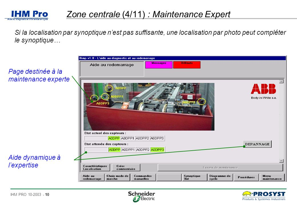 Zone centrale (4/11) : Maintenance Expert