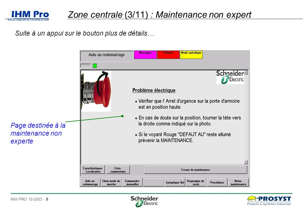 Zone centrale (3/11) : Maintenance non expert