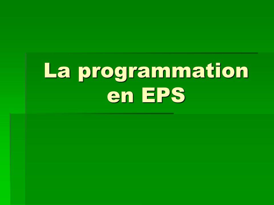 La programmation en EPS