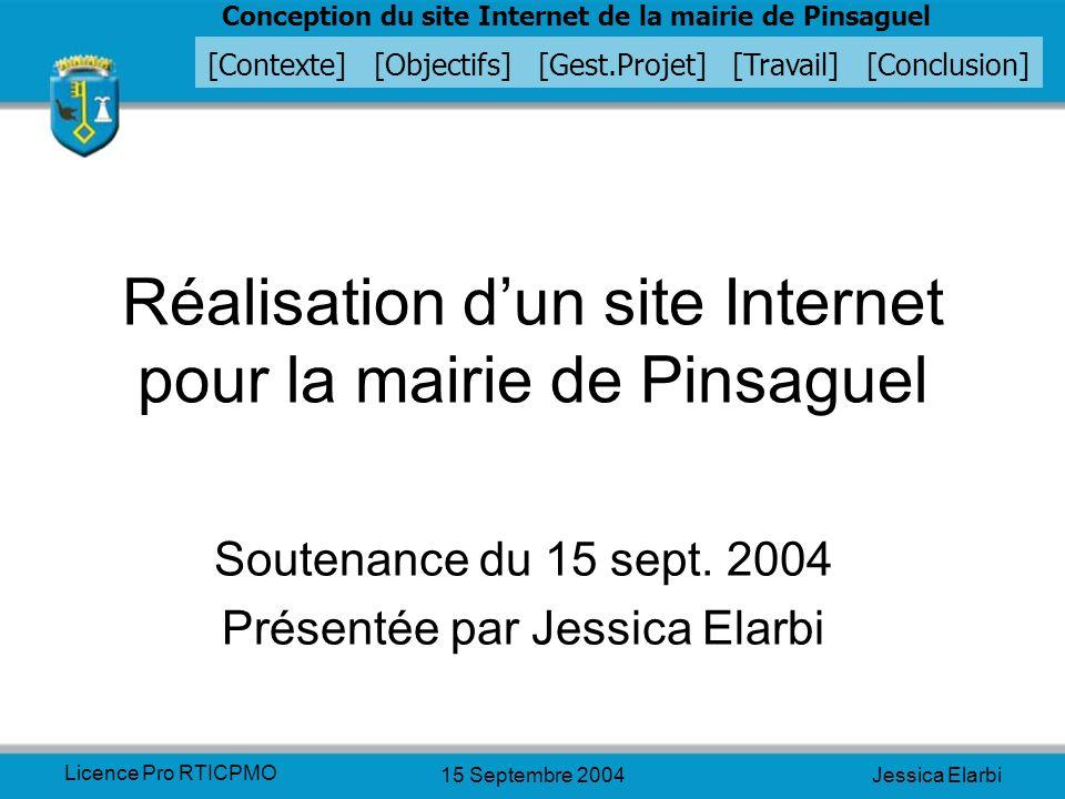 Réalisation d'un site Internet pour la mairie de Pinsaguel