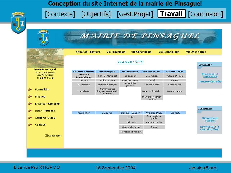 Travail Licence Pro RTICPMO 15 Septembre 2004