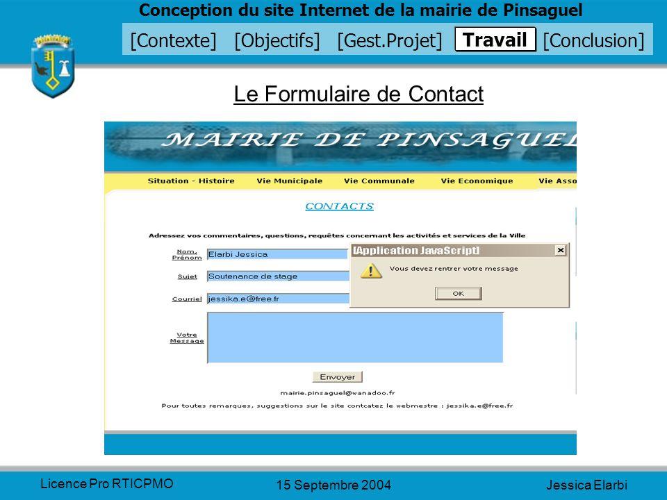 Le Formulaire de Contact