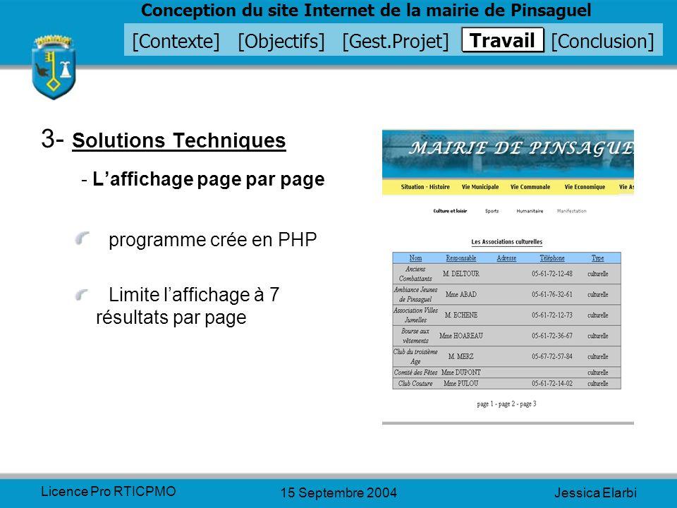 3- Solutions Techniques - L'affichage page par page