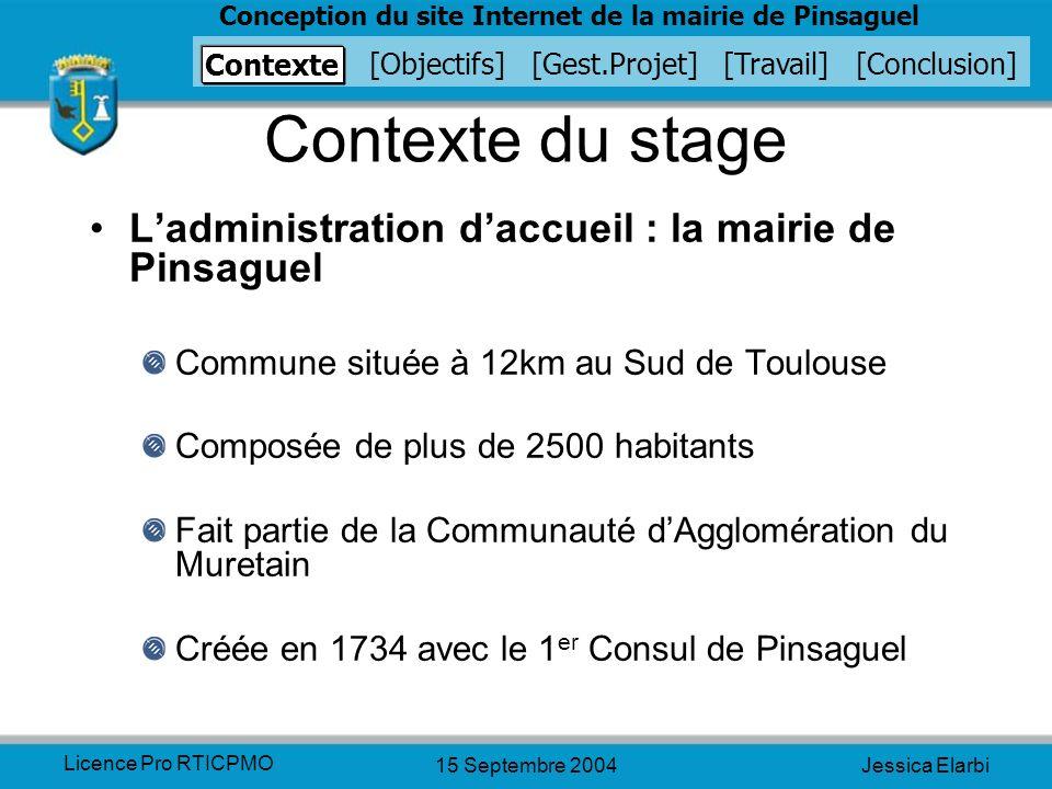 Contexte du stage L'administration d'accueil : la mairie de Pinsaguel