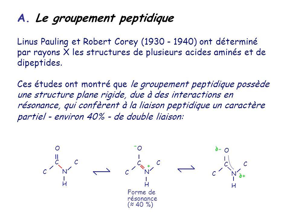 A. Le groupement peptidique