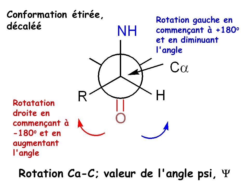 Rotation Ca-C; valeur de l angle psi, Y