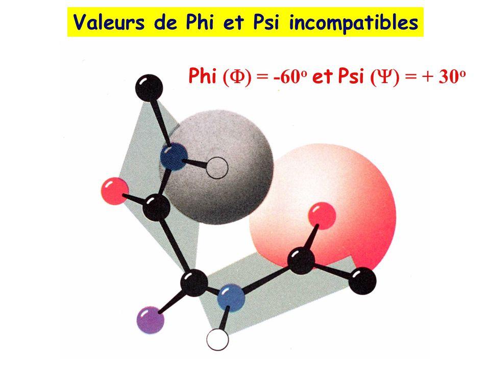 Valeurs de Phi et Psi incompatibles