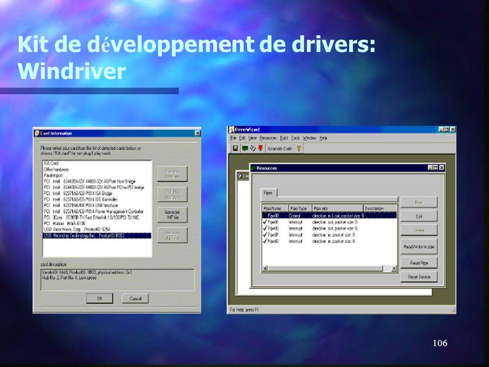 Kit de développement de drivers: Windriver
