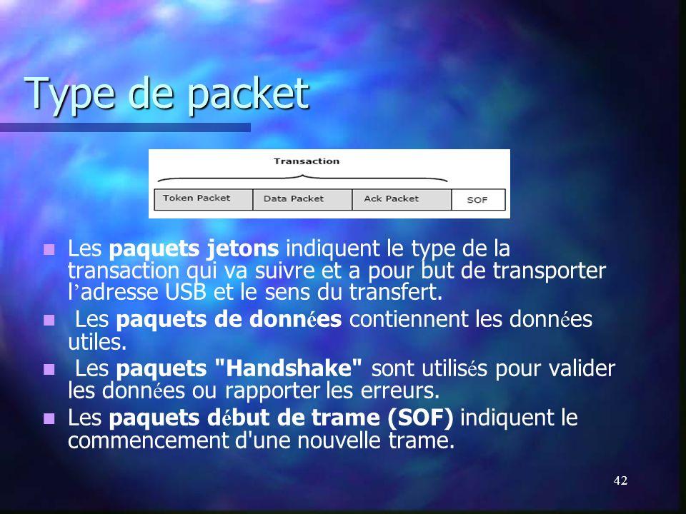 Type de packet