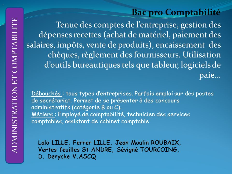La liste des tablissements cit s n est pas exhaustive - Cabinet de recrutement comptabilite finance ...