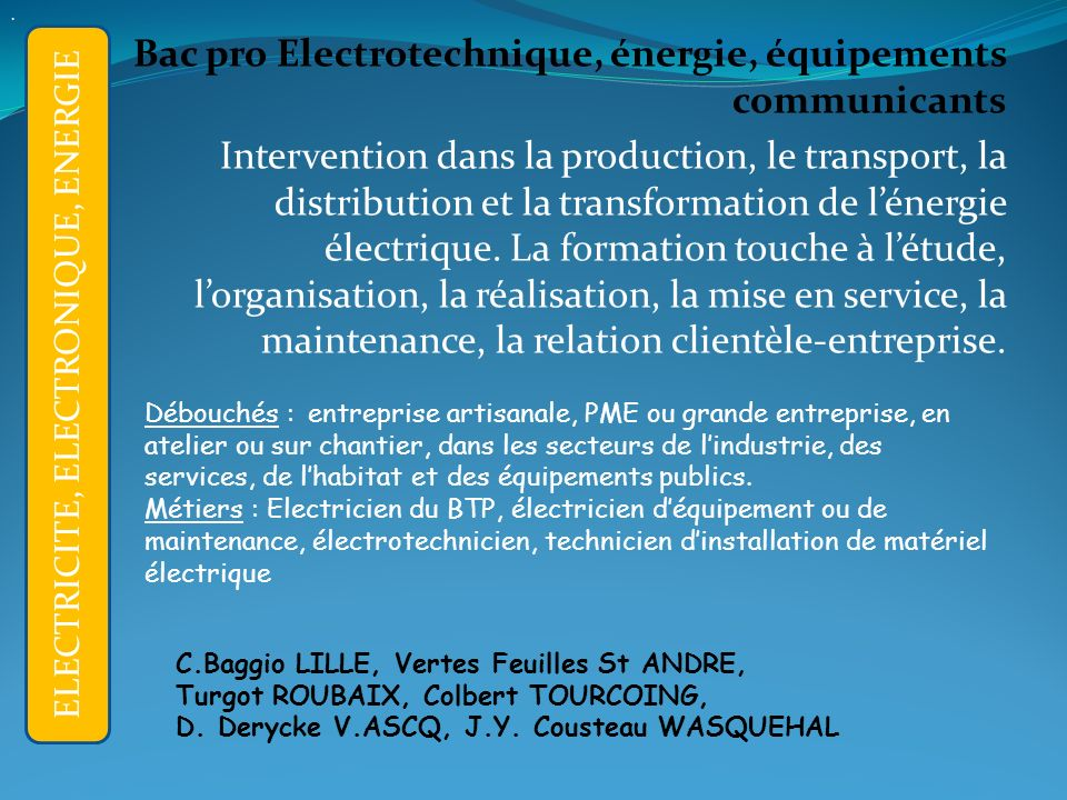 ELECTRICITE, ELECTRONIQUE, ENERGIE