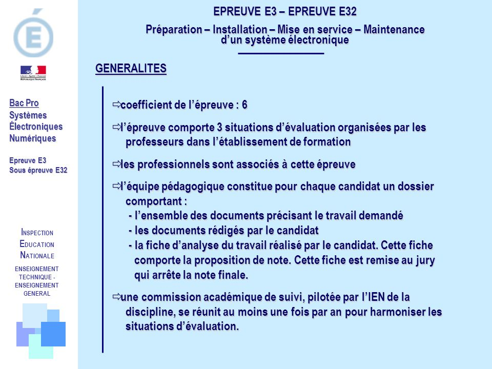ENSEIGNEMENT TECHNIQUE -ENSEIGNEMENT GENERAL