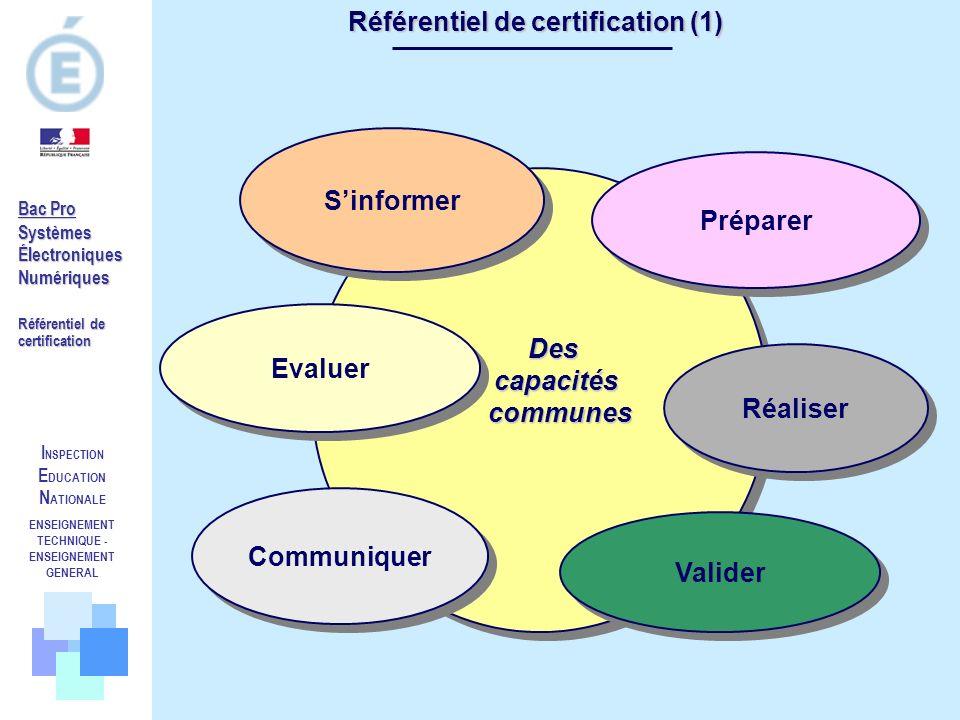 Référentiel de certification (1)